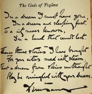 THE GODS OF PEGANA, TIME AND THE GODS, THE SWORD OF WELLERAN, A DREAMERS TALES, THE BOOK OF WONDER, THE LAST BOOK OF WONDER.