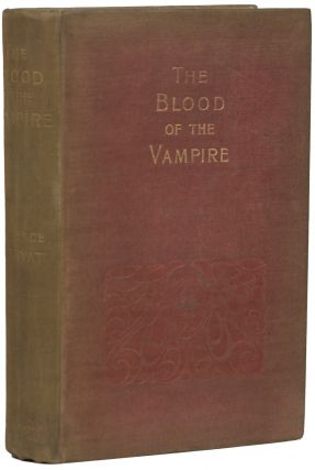 THE BLOOD OF THE VAMPIRE. Florence Marryat, Mrs. Florence Lean, Church