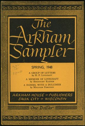 THE. Winter 1948 - Autumn 1949 . ARKHAM SAMPLER, August Derleth, number 1-volume 2 volume 1,...