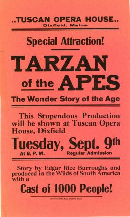 SPECIAL ATTRACTION! TARZAN OF THE APES. THE WONDER STORY OF THE AGE. Edgar Rice Burroughs