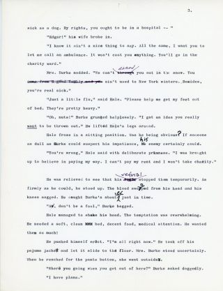 NONE BUT LUCIFER [novel fragment]. TYPEWRITTEN MANUSCRIPT (TMs). A mixture of ribbon and carbon...