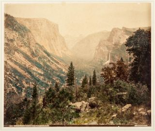 Yosemite Valley] General view of Yosemite Valley from Artist's Point. Albumen print. CARLETON E....