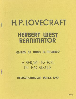 HERBERT WEST REANIMATOR. Lovecraft