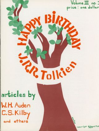 numbers volume 3, whole numbers, 1968 . TOLKIEN JOURNAL. 1967 - late Summer, later Edmund R....