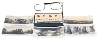 A set of twelve stereoscopic views in Yosemite National Park with folding stereoscope [box...
