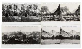 A set of twelve stereoscopic views in Yosemite National Park with folding stereoscope [box title].