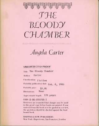 THE BLOODY CHAMBER. Angela Carter