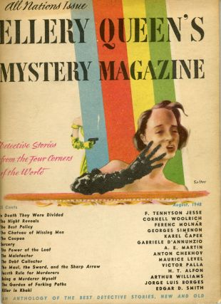 """The Garden of Forking Paths."" In: ELLERY QUEEN'S MYSTERY MAGAZINE.q. Jorge Luis Borges"