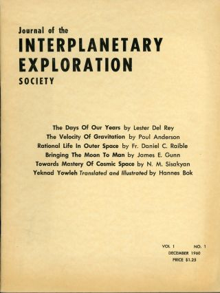 JOURNAL OF THE INTERPLANETARY EXPLORATION SOCIETY. December 1960 ., Hans Stefan Santesson, number...