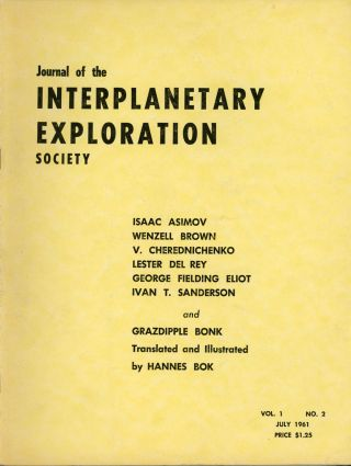 JOURNAL OF THE INTERPLANETARY EXPLORATION SOCIETY. July 1961 ., Hans Stefan Santesson, number 2...