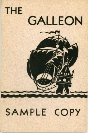 THE. July / August 1935 . GALLEON, Lloyd Arthur Eshbach, number 5 volume 1