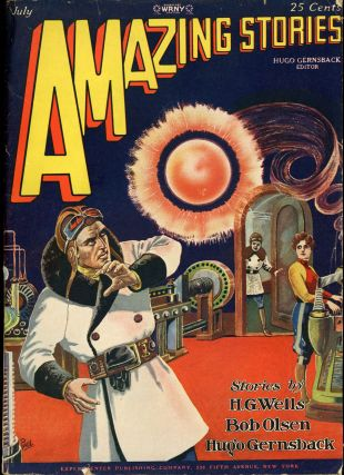 AMAZING STORIES. July 1928 ., Hugo Gernsback, number 4 volume 3
