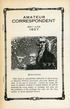 """Notes on Writing Weird Fiction."" In: AMATEUR CORRESPONDENT. Lovecraft"