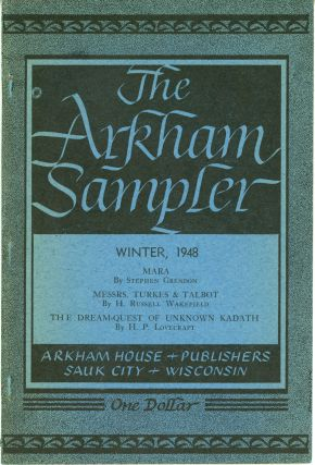 THE. Winter 1948 - Autumn 1949 . ARKHAM SAMPLER, August Derleth, number 1 - volume 2 volume 1,...