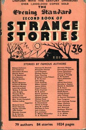 THE EVENING STANDARD SECOND BOOK OF STRANGE STORIES. Anonymously Edited Anthology
