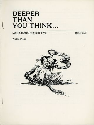 DEEPER THAN YOU THINK. July 1968 ., Joel Jay Frieman, number 2 volume 1