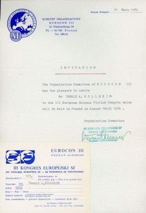 CORRESPONDENCE AND RELATED MATERIAL, INCLUDING INFORMATOR NO. 1 (CONVENTION INFORMATION BOOKLET)....