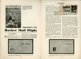 Rocket Mail, THE AIRPOST JOURNAL. October 1935 ., Walter J. Conrath, number 1 volume 7