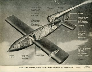FLYING BOMBS Published December 1944, by British Information Services ... [cover title].
