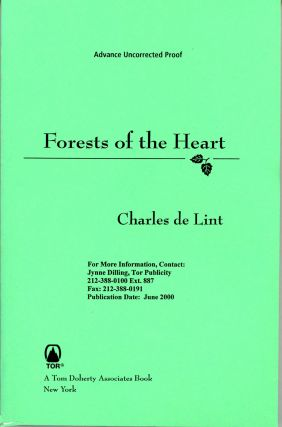 FORESTS OF THE HEART. Charles De Lint