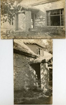 TWO PHOTOGRAPHS OF AUGUST DERLETH'S RESIDENCE, PLACE OF HAWKS, TAKEN IN 1940 BY EPHRAIM BURT...