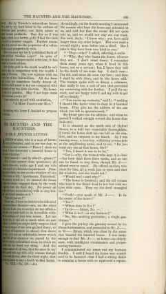 """""""Haunted and the Haunters, The."""" In: HARPER'S NEW MONTHLY MAGAZINE. February 1861 (volume 22, number 129)."""