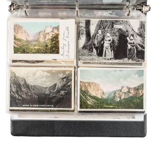 Yosemite Valley, High Sierra and Big Trees postcards.