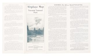 Airplane map of Yosemite National Park compliments of Yosemite Transportation System Yosemite National Park, California [cover title].
