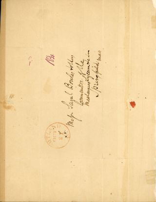 AUTOGRAPH LETTER, SIGNED (ALS). 1 page, quarto bifolium. To Samuel Bowles, dated 20 October 1840.