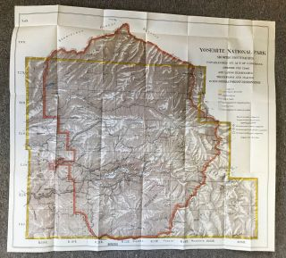 Yosemite National Park showing boundaries established by Act of Congress approved Feb. 7, 1905 and lands eliminated therefrom and placed in the Sierra Forest Reservation ... Recommended in Report of Yosemite Park Commission dated Aug. 31, 1904 ... Scale, 1 inch 2 miles.