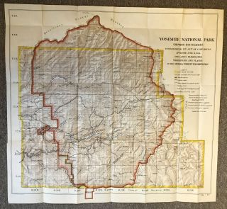 Yosemite National Park showing boundaries established by Act of Congress approved June 11, 1906 and lands eliminated therefrom and placed in the Sierra Forest Reservation ... Recommended in Report of Yosemite Park Commission dated Aug. 31, 1904 ... Scale, 1 inch 2 miles.
