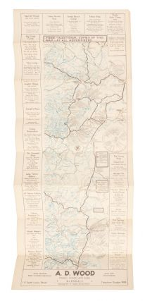 Tourist map of the eastern High Sierra from Sierraville, California, south to Olancha, California...