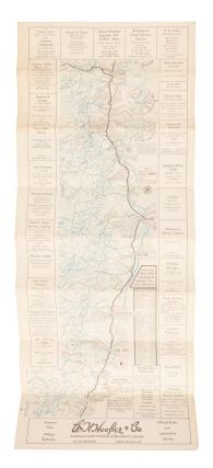 Tourist map of the eastern High Sierra from Sierraville, California, south to Olancha, California [title supplied].