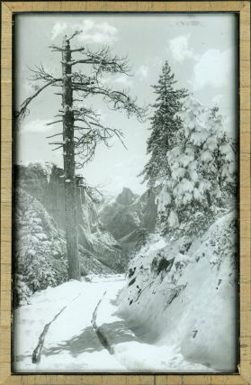 Yosemite Valley] Silver Road to Yosemite. Silvertone photographic print on glass. ARTHUR CLARENCE...