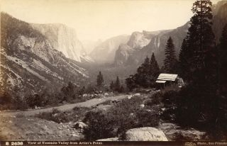 Yosemite Valley] View of Yosemite Valley from Artist's Point. Albumen photograph. ISAIAH WEST TABER
