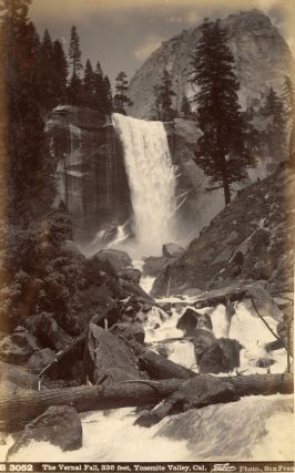 Yosemite Valley] The Vernal Fall, 336 feet, Yosemite, Cal. Albumen photograph. ISAIAH WEST TABER