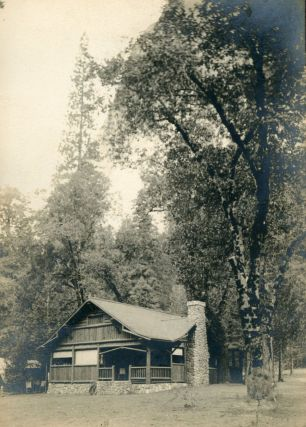 Yosemite Valley] Mother Curry's bungalow, Camp Curry, Yosemite Valley. Gelatin silver print....