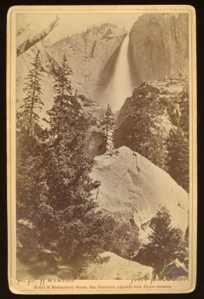 Yosemite Valley] Upper Yosemite Fall, Yosemite Valley, Cal. Albumen print. CARLETON E. WATKINS