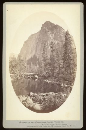 Yosemite Valley] Outline of the Cathedral Rocks, Yosemite. Albumen print. CARLETON E. WATKINS