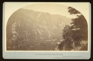 Yosemite Valley] View from Eagle Point Trail, Yosemite. Albumen print. CARLETON E. WATKINS