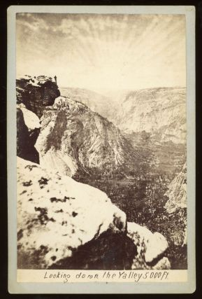 Yosemite Valley] Looking down the valley 5000 ft. Albumen print. GUSTAVUS FAGERSTEEN