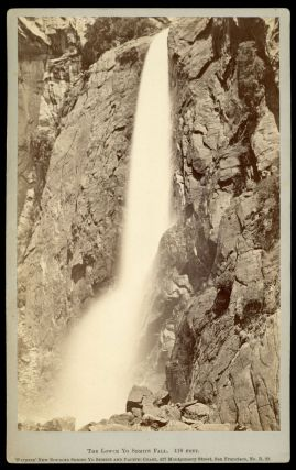 Yosemite Valley] The Lower Yo Semite Fall. 418 feet. Albumen print. CARLETON E. WATKINS