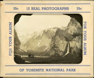 12 real photographs of Yosemite National Park for your album [card mailing folder title]. 12 REAL...