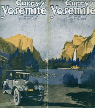 Curry's Yosemite automobile road guide [cover title]. CAMP CURRY