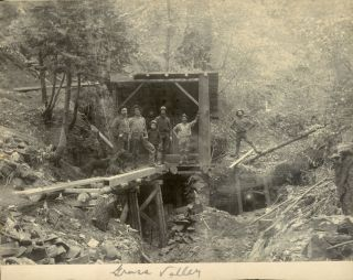 Mines and Mining; California; Nevada County; Grass Valley] Four gelatin silver prints of mines in...