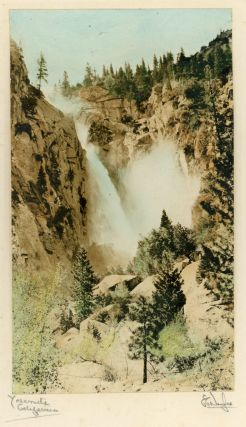 "Yosemite Valley; Illilouette Fall] ""Yosemite, California."" Hand-colored photograph. EVAN C. DOUGLAS"