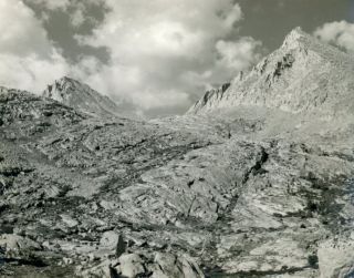 High Sierra] Muir Pass [title supplied]. Gelatin silver print. ANONYMOUS PHOTOGRAPHER