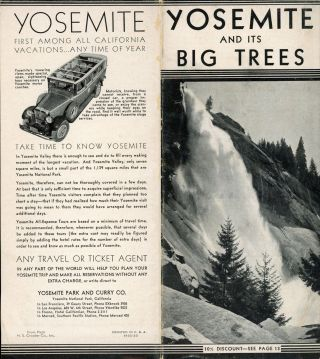 Yosemite and its big trees [cover title]. YOSEMITE PARK AND CURRY COMPANY