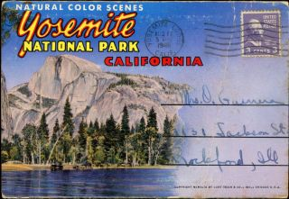Natural color scenes Yosemite National Park California ... [folder title]. WESTERN PUBLISHING AND...