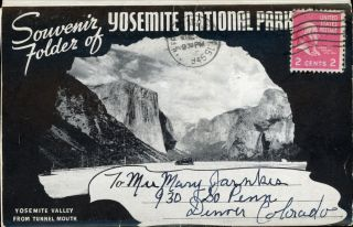 Souvenir folder of Yosemite National Park ... [folder title]. WAYNE PAPER BOX, PRINTING CORPORATION